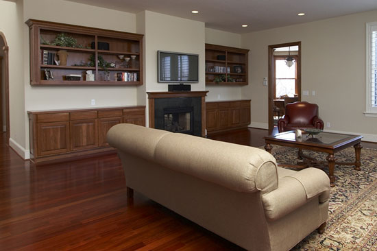 Fireplace and Mantle Built-Ins