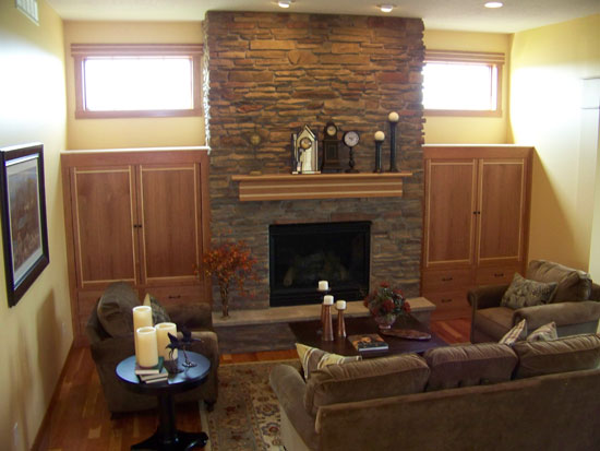 Cherry Fireplace Two Tone
