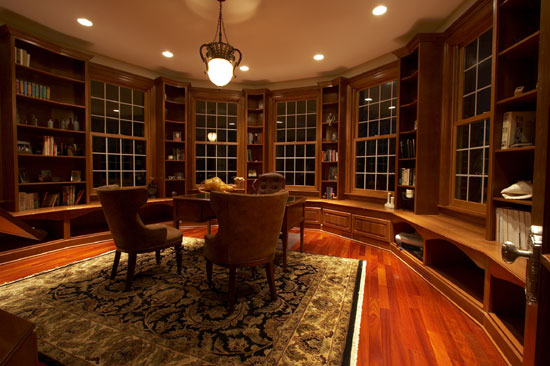 Library Bench and Bookcases